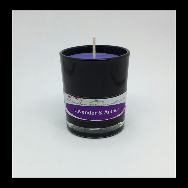 Lavender & Amber Scented Soy Votive - Free UK Shipping
