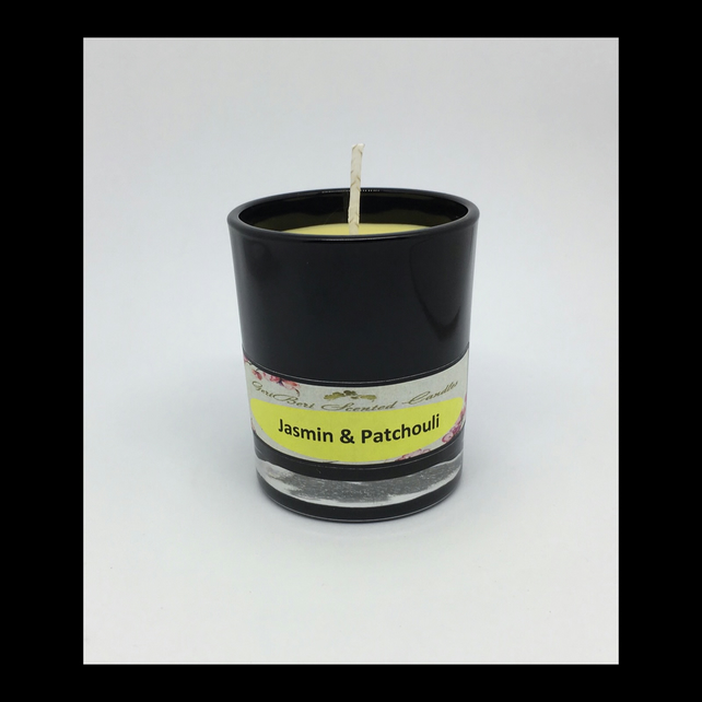 Jasmin & Patchouli Scented Soy Votive Candle - Free UK Shipping