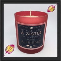 """Sister & Friend"" Scented Soy Candle Glasses - Free UK Shipping"