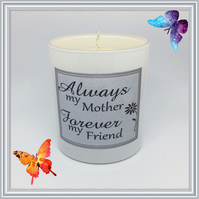 """Mum & Friend"" Scented Soy Candle Glasses - Free UK Shipping"
