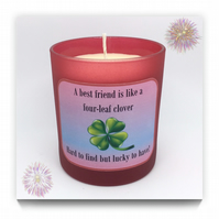 """Best Friend"" Scented Soy Candle Glasses - Free UK Shipping"