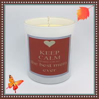 """Best MUM Ever"" Scented Soy Candle Glasses - Free UK Shipping"