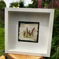 Willowherb  Fragment to Flowers  Textile Art