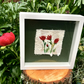 Red Tulips  Scrappy Textile Art