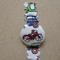 Button Brooch - Bicycle