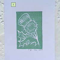 Lino Print Cards - Nature