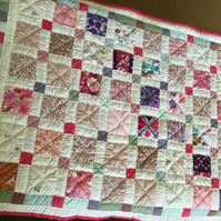 Handmade Child's or Baby Cot  Quilt