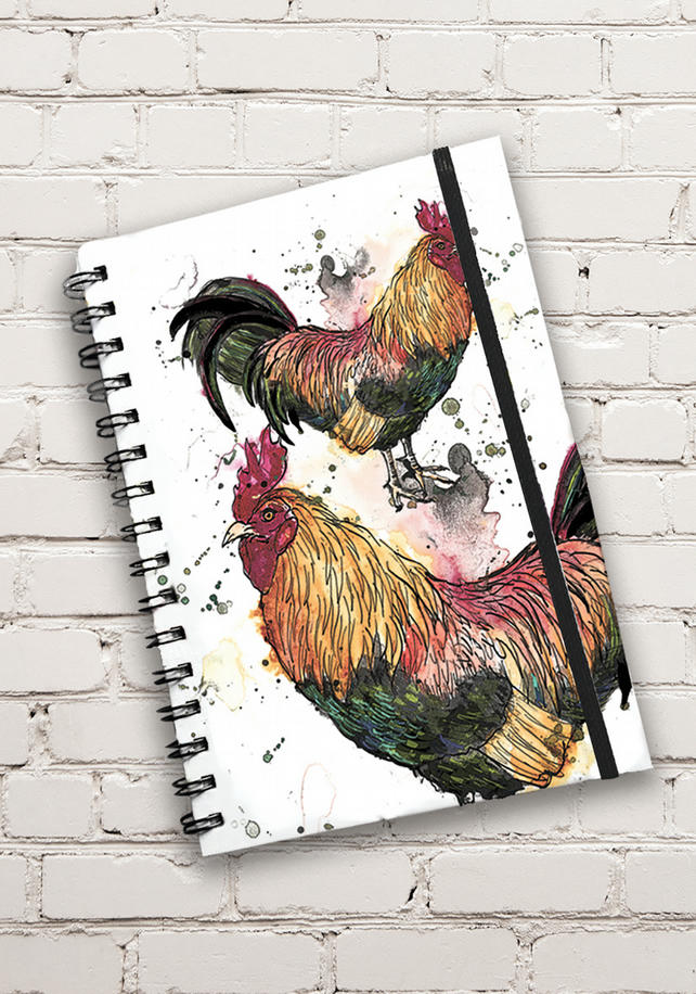 Cockerel Print Hardback Notebook