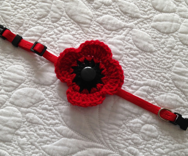 Handmade Crochet Pet Collar  Poppy