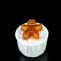 Gingerbread Bath Creamer with a Mini Gingerbread Man Soap