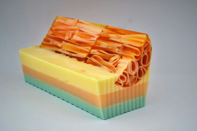Sweet Orange and Lemongrass Essential Oil Soap, Citrus Soap