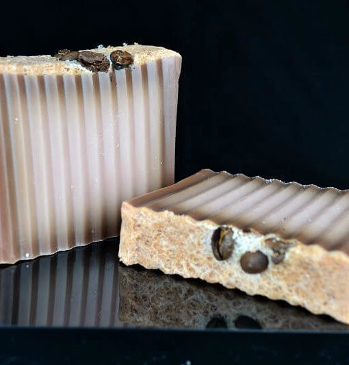 SALE Cappucino Soap Slice, SLS and Parabens Free, Coffee Soap