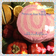 Moroccan Rose Bubble Bar, Solid Bubble Bath with Cocoa Butter