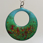 Summer Meadow enamelled copper pendant 139