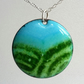 Rolling hills pendant in enamelled copper 140