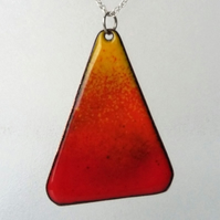 """Volcano"" enamelled copper pendant 142"