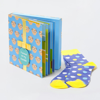 Grandpa gift book and socks 12 page hardback book with special gift inside