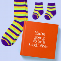 Godfather to be 12 page hard back book with special gift inside for Adult & Baby