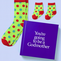 Godmother to be 12 page hard back book with special gift inside for Adult&Baby