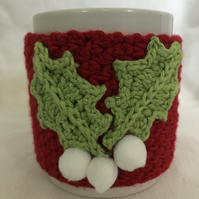 White Holly Berry Mug Cosy