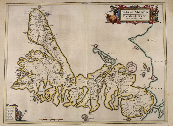 Isle of Skye – Blaeu's Atlas Novus – Antique, Old Map of Skye, Highlands, Scotch