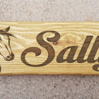 Horse Name Plaque