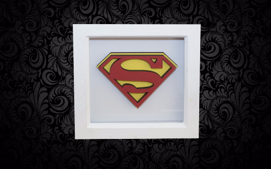 SuperMan 3D Box Frame Wall Art
