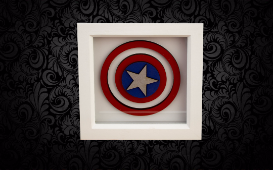 Captain America 3D Box Frame Wall Art