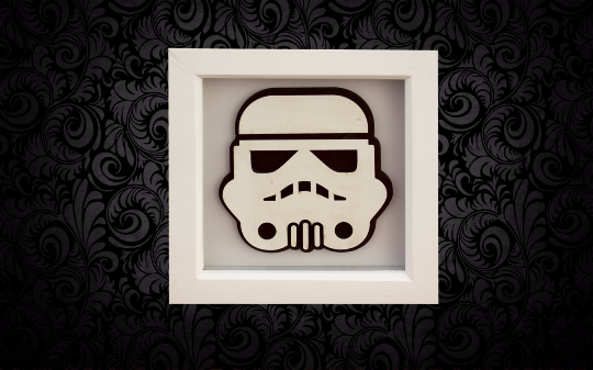 Storm Trooper 3D Box Frame Wall Art