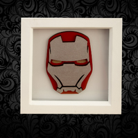 Iron Man 3D Box Frame Wall Art