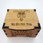 Game Of Thrones House Greyjoy Oak Box with hinged lid for jewellery keepsakes