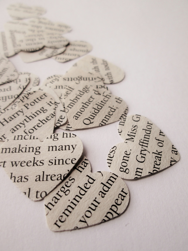 Paper Heart Confetti - Harry Potter