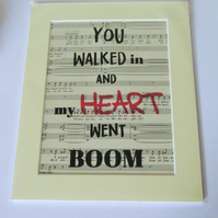 Hamilton Lyric Print - Helpless Sheet Music Print