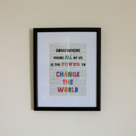 Book Print, Roald Dahl's Matilda - Change the World