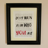 Book Print - Narnia, CS Lewis - don't run from who you are