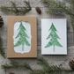 Green Christmas Tree Cards - Pack of 12 in a Box - Blank Inside - Photograph