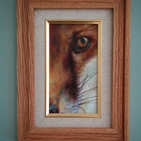 Museum quality giclée print of my original fox oil painting.