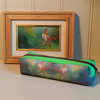 Make up bag, pencil case using my oil painting images. Cosmetic bag. Unique
