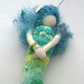 felt mermaid, needle felted mermaid hanging decoration