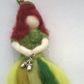 felted woodland fairy, felt fairy, hanging magical folk decoration
