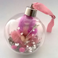 HALF PRICE felted fairy christmas bauble, christening, 18th or 21st birthday