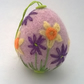 felted and embroidered egg felt daffodil easter egg