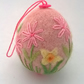 felt and embroidered egg hanging easter decoration felted daffodil egg