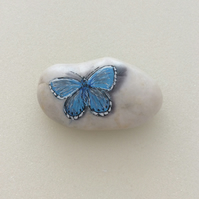 Butterfly paperweight painted pebble