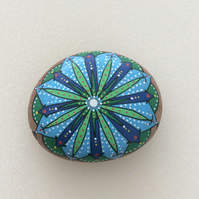 Colourful geometric design mandala paperweight
