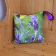 Small  Aromatic Lavender and Bee Cushion