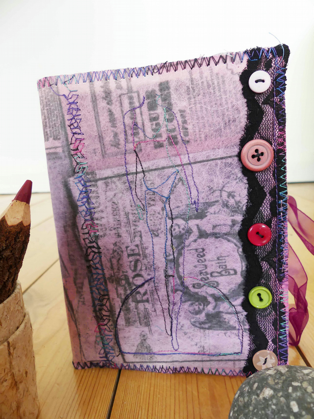 Textile covered journal