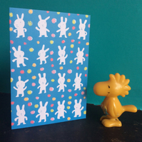 Lucky White Rabbits card by Jo Brown