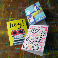 Pack of Three Cards by Jo Brown