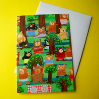 Bears in the Wood  greetings card by Jo Brown